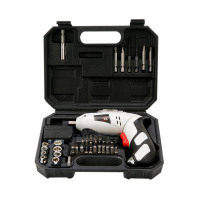 Electric Screwdriver Set Multifunctional Electric Screwdriver Hand Drill Home Wireless Carrying CaseTool Kit<br>Electric Screwdriver Set Multifunctional Electric Screwdriver Hand Drill Home Wireless Carrying Case<br><br>Application: Household Appliances<br>Electric Tools: Screw machine<br>Material: ABS Plastic, Chrome Vanadium Alloy<br>Package Contents: 1 x  Set Of Multifunctional Electric Screwdriver<br>Package size (L x W x H): 20.00 x 16.00 x 6.00 cm / 7.87 x 6.3 x 2.36 inches<br>Package weight: 1.5000 kg<br>Product size (L x W x H): 16.00 x 15.00 x 4.50 cm / 6.3 x 5.91 x 1.77 inches<br>Product weight: 1.3300 kg<br>Type: Combination tools