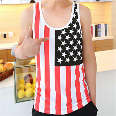 Printed Personality National Flag Printing Vest от GearBest.com INT