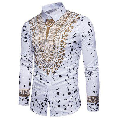 Mens Casual  Long Sleeve Printed Regular Fit Cotton ShirtMens Shirts<br>Mens Casual  Long Sleeve Printed Regular Fit Cotton Shirt<br><br>Collar: Turn-down Collar<br>Fabric Type: Polyester<br>Material: Polyester, Cotton Blends<br>Package Contents: 1 x Shirt<br>Shirts Type: Casual Shirts<br>Sleeve Length: Full<br>Weight: 0.2200kg