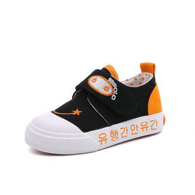 Children Anti Slip Soft Bottom Tide Comfortable Canvas Magic Plaster Baby School Step Shoes