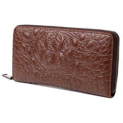 Crocodile Pattern Long Wallet Clutch Bag