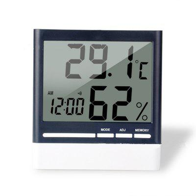 Digital Wall Clock With Auto-Night Light Temperature Humidity