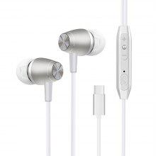 For Xiaomi Mi 6 USB-C Headphones Don'T Need Connector Earbuds Earphone with Microphone and Volume Control