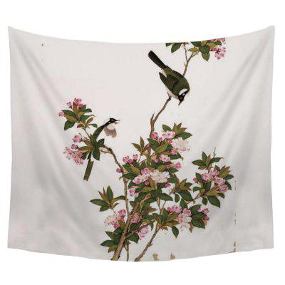 Chinese Classical Flower and Bird Pattern Tapestry Wall Decoration Sofa Bed Blanket Bedspread Tablecloth