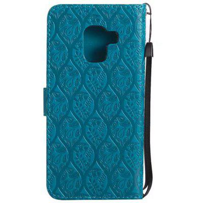 Cover Case for Samsung Galaxy A8 2018 Embossed Rattan Pattern PU Leather WalletSamsung A Series<br>Cover Case for Samsung Galaxy A8 2018 Embossed Rattan Pattern PU Leather Wallet<br><br>Features: With Credit Card Holder<br>Material: PU Leather<br>Package Contents: 1 x Phone Case<br>Package size (L x W x H): 20.00 x 20.00 x 5.00 cm / 7.87 x 7.87 x 1.97 inches<br>Package weight: 0.0500 kg<br>Product weight: 0.0300 kg<br>Style: Vintage, Pattern, Solid Color