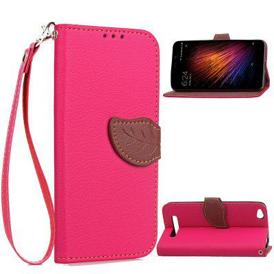 Leaf Luxury Leather Wallet Stand Flip Cover Case for Xiaomi Redmi 4A