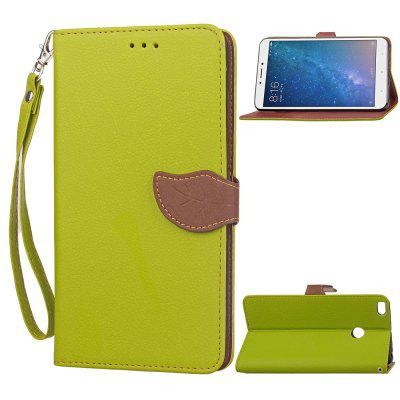 Leaf Luxury Leather Wallet Stand Flip Cover Case for Xiaomi Max 2