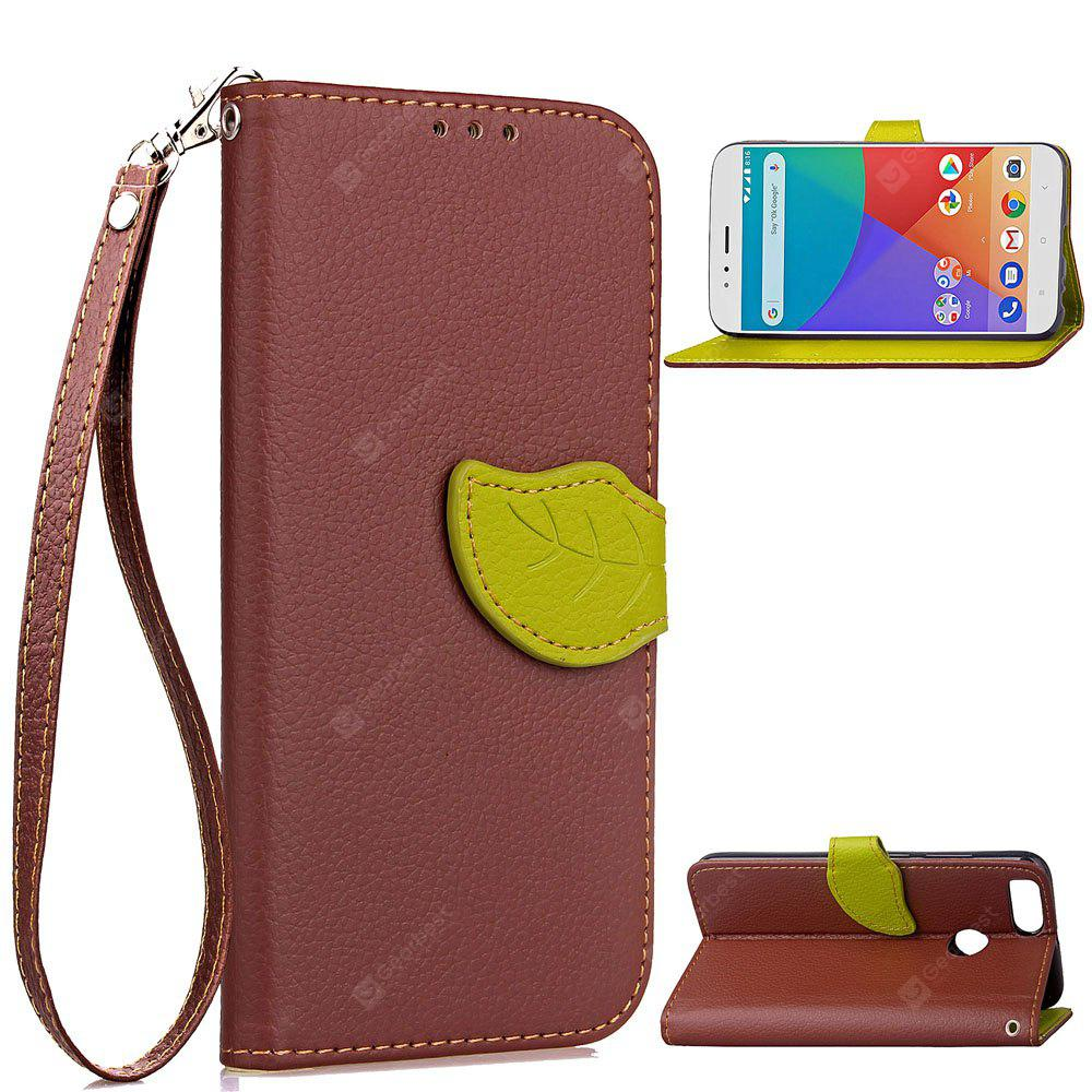 Leaf Luxury Leather Wallet Stand Flip Cover Case for Xiaomi 5X