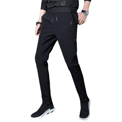 2018 Spring New Casual  Mens Slim  Feet PantsMens Pants<br>2018 Spring New Casual  Mens Slim  Feet Pants<br><br>Closure Type: Drawstring<br>Fit Type: Regular<br>Front Style: Flat<br>Material: Polyester, Spandex<br>Package Contents: 1?Pants<br>Pant Length: Long Pants<br>Pant Style: Pencil Pants<br>Style: Casual<br>Waist Type: Mid<br>Weight: 0.4300kg