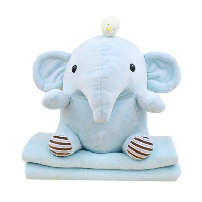 Elephant Hippo Blanket Plush Doll