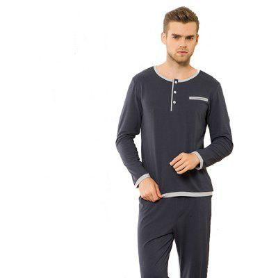 Cotton Pajamas Mens Casual Wear SuitsMens Underwear &amp; Pajamas<br>Cotton Pajamas Mens Casual Wear Suits<br><br>Material: Acetate<br>Package Contents: 1x Top?1 x Pants<br>Pattern Type: Solid<br>Weight: 0.4000kg