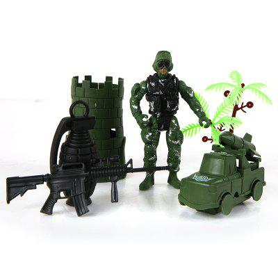 Toy Fortress of Children Military Model