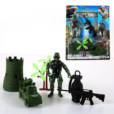 Toy Fortress of Children Military ModelMovies &amp; TV Action Figures<br>Toy Fortress of Children Military Model<br><br>Completeness: Finished Goods<br>Gender: Boys,Girls,Kids<br>Materials: Plastic, ABS<br>Package Contents: 1 x Set of Model Toy<br>Package size: 17.00 x 3.50 x 21.50 cm / 6.69 x 1.38 x 8.46 inches<br>Package weight: 0.0800 kg<br>Product weight: 0.0700 kg<br>Stem From: Other<br>Theme: Military