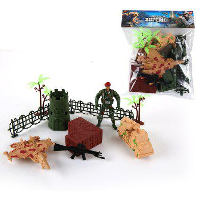 Military Model Fortress Battle Machine ToyMovies &amp; TV Action Figures<br>Military Model Fortress Battle Machine Toy<br><br>Completeness: Finished Goods<br>Gender: Boys,Girls,Kids<br>Materials: Plastic, ABS<br>Package Contents: 1 x Set of Model Toy<br>Package size: 17.00 x 3.50 x 21.50 cm / 6.69 x 1.38 x 8.46 inches<br>Package weight: 0.0800 kg<br>Product weight: 0.0700 kg<br>Stem From: Other<br>Theme: Military