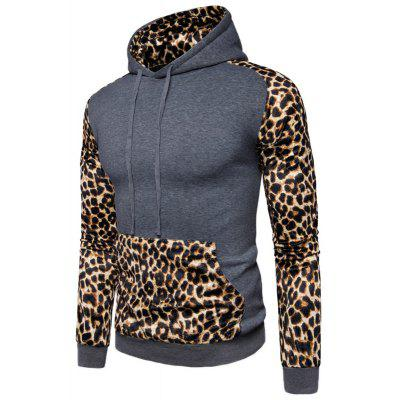 Casual Fashion All-Match Leopard Splicing HoodieMens Hoodies &amp; Sweatshirts<br>Casual Fashion All-Match Leopard Splicing Hoodie<br><br>Material: Cotton, Polyester<br>Package Contents: 1 xHoodie<br>Shirt Length: Short<br>Sleeve Length: Full<br>Style: Casual<br>Weight: 0.5000kg