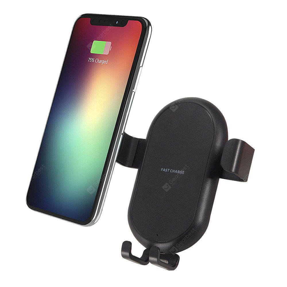 Fast Qi Wireless Charger Car Mount Air Vent Cradle Phone Holder para iPhone X / 8/8 Plus Samsung