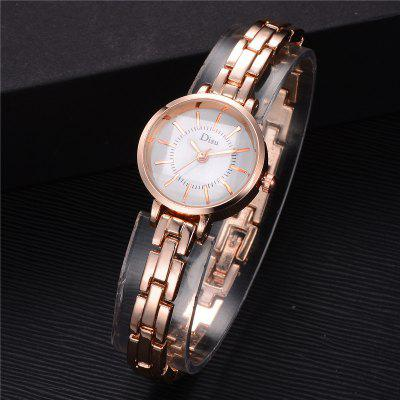 DS079 Minimalist Women Analog Quartz Metal Bracelet Wrist WatchWomens Watches<br>DS079 Minimalist Women Analog Quartz Metal Bracelet Wrist Watch<br><br>Band material: Zinc Alloy<br>Band size: 18.4 x 0.7 CM<br>Case material: Alloy<br>Clasp type: Sheet folding clasp<br>Dial size: 2.2 x 2.2 x 0.7 CM<br>Display type: Analog<br>Movement type: Quartz watch<br>Package Contents: 1 x Watch<br>Package size (L x W x H): 20.00 x 4.00 x 1.00 cm / 7.87 x 1.57 x 0.39 inches<br>Package weight: 0.0300 kg<br>Product size (L x W x H): 18.40 x 2.20 x 0.70 cm / 7.24 x 0.87 x 0.28 inches<br>Product weight: 0.0280 kg<br>Shape of the dial: Round<br>Special features: Day<br>Watch mirror: Mineral glass<br>Watch style: Fashion, Business, Retro, Lovely, Wristband Style, Jewellery, Casual<br>Watches categories: Women,Female table<br>Water resistance: Life water resistant