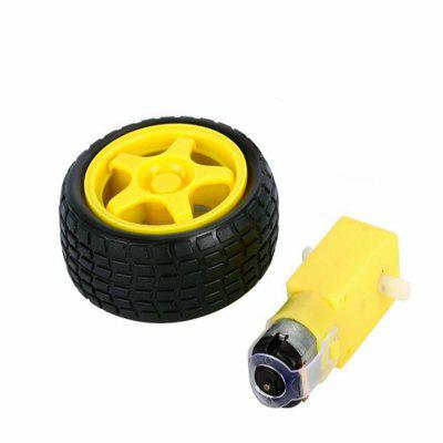 Tt Smart Gear Motor con 65mm Rueda DIY con ruedas Robotic Car Chassis RC Toy Kit