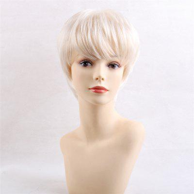Simple Fashionable Short Wig with Bangs for African American Human Hair