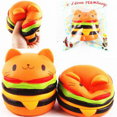 Jumbo Squishy Cat Burger Slow Rising