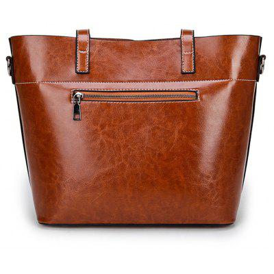 Large Capacity Oil Wax Leather Hand  bag