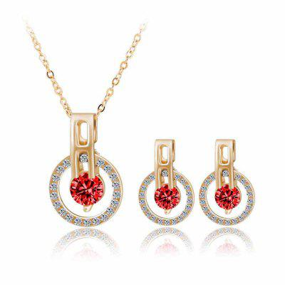 Fashion Minimalist Zircon Starry Sky Necklace Earrings Set