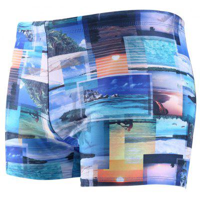 Daifansen Waterproof Printing Speed ​​Dry Men Boxer Shorts
