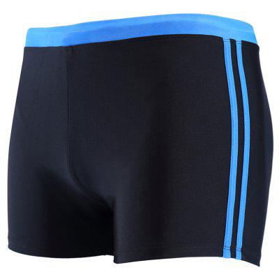 Daifansen The New Black Stripe Mosaic Leisure Quick Dry Beach Boxer Trunks