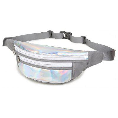 Mens Sports Laser Reflective Crossbody BagWaist Packs<br>Mens Sports Laser Reflective Crossbody Bag<br><br>Closure Type: Zipper<br>Gender: For Men<br>Handbag Type: Crossbody bag<br>Main Material: Nylon<br>Occasion: Versatile<br>Package Contents: 1 x  crossbody bag<br>Package size (L x W x H): 46.00 x 19.00 x 12.00 cm / 18.11 x 7.48 x 4.72 inches<br>Package weight: 0.2200 kg<br>Pattern Type: Others<br>Product size (L x W x H): 44.00 x 17.00 x 10.00 cm / 17.32 x 6.69 x 3.94 inches<br>Product weight: 0.2000 kg<br>Style: Casual