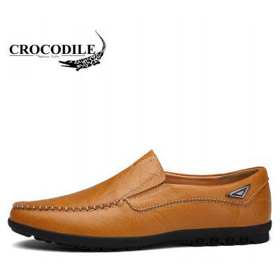 CROCODILE The New 2018 Men Leather Casual ShoesMen's Oxford<br>CROCODILE The New 2018 Men Leather Casual Shoes<br><br>Available Size: 38-44<br>Closure Type: Slip-On<br>Embellishment: None<br>Flat Type: Slingbacks<br>Gender: For Men<br>Insole Material: PVC<br>Lining Material: Genuine Leather<br>Occasion: Casual<br>Outsole Material: Rubber<br>Package Contents: 1xshoes(pair)<br>Pattern Type: Patchwork<br>Season: Summer, Spring/Fall, Winter<br>Shoe Width: Medium(B/M)<br>Toe Shape: Round Toe<br>Toe Style: Closed Toe<br>Upper Material: Cow Split<br>Weight: 1.9800kg