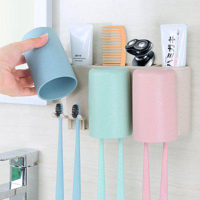 Natural Wheat Toothbrush Holder Strong Traceless Wash Wash Suit