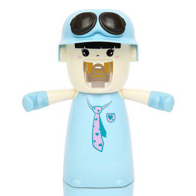 Buy Creative Cartoon Toothbrush Holder Mouthwash Automatic Toothpaste Package WINDSOR BLUE 20X17X9CM for $10.24 in GearBest store