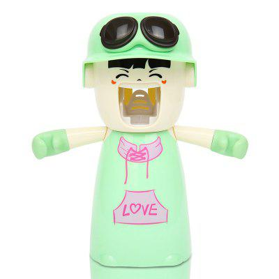 Buy Creative Cartoon Toothbrush Holder Mouthwash Automatic Toothpaste Package LIGHT GREEN 20X17X9CM for $10.24 in GearBest store