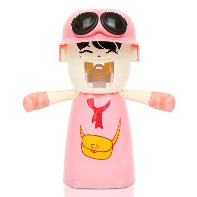 Buy Creative Cartoon Toothbrush Holder Mouthwash Automatic Toothpaste Package PINK 20X17X9CM for $10.24 in GearBest store