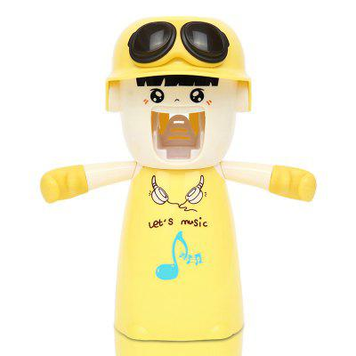 Buy Creative Cartoon Toothbrush Holder Mouthwash Automatic Toothpaste Package LIGHT YELLOW 20X17X9CM for $10.24 in GearBest store