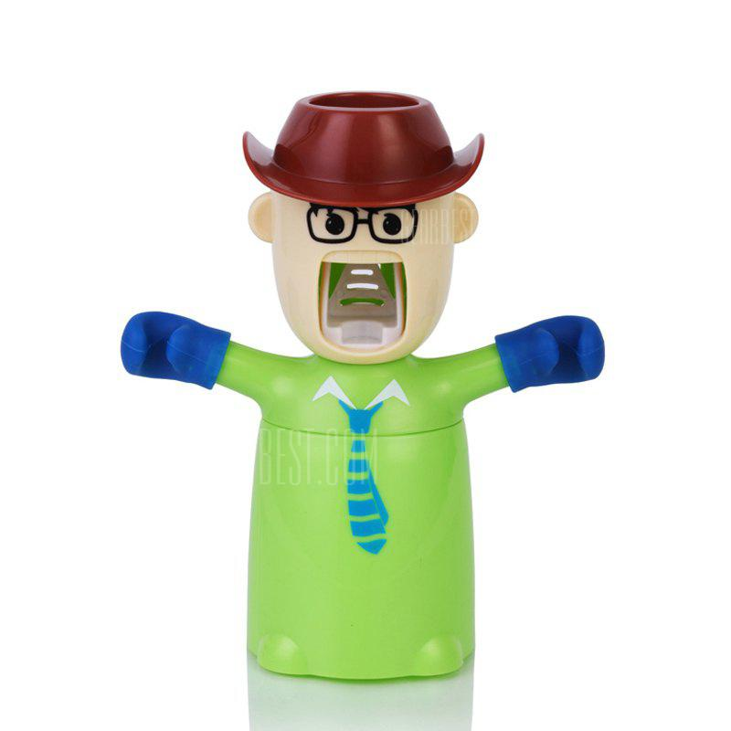 Creative Cartoon Toothbrush Holder Mouthwash Automatic Toothpaste Package GREEN 20X17X9CM