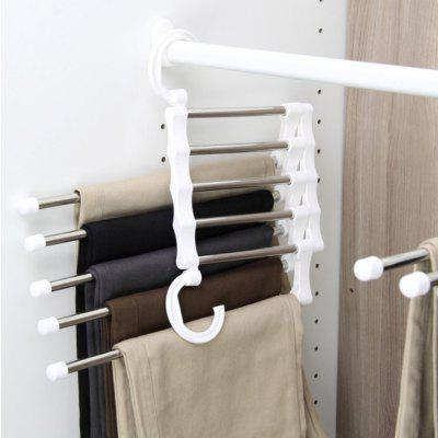 Stainless Steel Magic Pants Rack Multi-LayerHome Gadgets<br>Stainless Steel Magic Pants Rack Multi-Layer<br><br>Materials: Stainless Steel, PP<br>Package Contents: 1 x Pants Rack<br>Package Size(L x W x H): 13.00 x 19.00 x 4.00 cm / 5.12 x 7.48 x 1.57 inches<br>Package weight: 0.3500 kg<br>Product Size(L x W x H): 12.50 x 18.30 x 34.00 cm / 4.92 x 7.2 x 13.39 inches