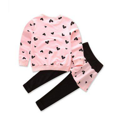 Simple Style Sweatshirt and Pants for Girls