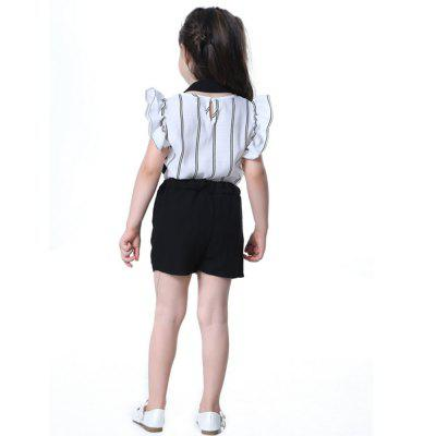 New Fashion Suspender with Sleeveless Shirt Suit for GirlGirls clothing sets<br>New Fashion Suspender with Sleeveless Shirt Suit for Girl<br><br>Collar: Round Neck<br>Material: Cotton<br>Package Contents: 1 x Suit<br>Pattern Type: Striped<br>Shirt Length: Regular<br>Sleeve Length: Sleeveless<br>Style: Sweet<br>Weight: 0.1200kg