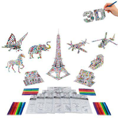 3D Coloring Puzzles Educational Toys Creative Toy World Famous Architecture Eiffel Pisa Tower Triumph ArchLogic &amp; Puzzle Toys<br>3D Coloring Puzzles Educational Toys Creative Toy World Famous Architecture Eiffel Pisa Tower Triumph Arch<br><br>Gender: Boys,Girls<br>Materials: Paper<br>Package Contents: 1 x Puzzle, 12 x Colorful pencils, 1 x Gift Box<br>Package size: 31.50 x 22.00 x 4.00 cm / 12.4 x 8.66 x 1.57 inches<br>Package weight: 0.2500 kg<br>Stem From: Other<br>Style: Geometric Shape, Construction, Landscape<br>Theme: Movie and TV,Fantasy and Sci-fi<br>Type: Jigsaw Puzzle, Personalized Jigsaw, 3D Puzzle