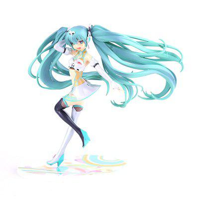 Cute Girl with Green Hair Cartoon Action Figure Collectible Toy