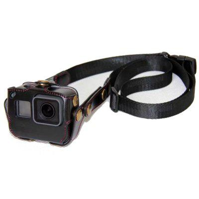 Retro PU Leather Camera Case Bag Cover for Gopro Hero 6/5