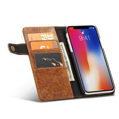 CaseMe for iPhone X Case Luxury Leather Manufacturer Wallet Flip Mobile Phone Cover