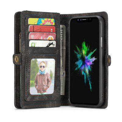 CaseMe For iPhone X Wallet Case Premium Zipper Leather Purse with Detachable Flip Magnetic Cover 11 Credit Card SlotsiPhone Cases/Covers<br>CaseMe For iPhone X Wallet Case Premium Zipper Leather Purse with Detachable Flip Magnetic Cover 11 Credit Card Slots<br><br>Brand: CaseMe<br>Color: Black,Red,Blue,Coffee<br>Compatible for Apple: iPhone X<br>Features: Wallet Case, Shatter-Resistant Case, FullBody Cases, Anti-knock, Button Protector, With Credit Card Holder, Bumper Frame<br>Material: PC, TPU, PU Leather, Metal<br>Package Contents: 1 x Phone Case<br>Package size (L x W x H): 15.10 x 8.50 x 2.40 cm / 5.94 x 3.35 x 0.94 inches<br>Package weight: 0.1470 kg<br>Product size (L x W x H): 15.00 x 8.40 x 2.30 cm / 5.91 x 3.31 x 0.91 inches<br>Product weight: 0.1370 kg<br>Style: Name Brand Style, Leather, Vintage