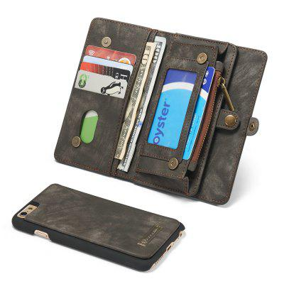 CaseMe for iPhone 6/6S Case 4.7 inch Multifunction Leather Wallet with 11 Card Slots Magnetic Detachable Back CoveriPhone Cases/Covers<br>CaseMe for iPhone 6/6S Case 4.7 inch Multifunction Leather Wallet with 11 Card Slots Magnetic Detachable Back Cover<br><br>Brand: CaseMe<br>Color: Black,Red,Blue,Coffee<br>Compatible for Apple: iPhone 6, iPhone 6S<br>Features: Wallet Case, Shatter-Resistant Case, FullBody Cases, Anti-knock, Button Protector, With Credit Card Holder, Bumper Frame, Back Cover<br>Material: PC, TPU, Metal, PU<br>Package Contents: 1 x Phone Case<br>Package size (L x W x H): 14.50 x 8.30 x 4.10 cm / 5.71 x 3.27 x 1.61 inches<br>Package weight: 0.1680 kg<br>Product size (L x W x H): 14.40 x 8.20 x 4.00 cm / 5.67 x 3.23 x 1.57 inches<br>Product weight: 0.1580 kg<br>Style: Name Brand Style, Leather, Vintage