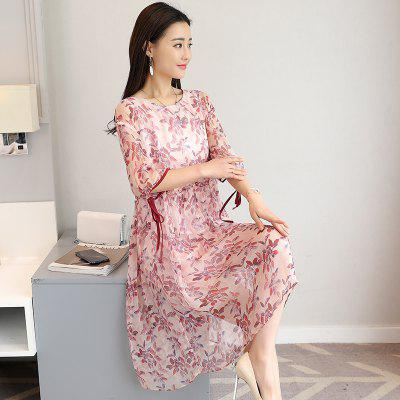 Large Size Floral Print  Round Collar DressWomens Dresses<br>Large Size Floral Print  Round Collar Dress<br><br>Dresses Length: Mid-Calf<br>Elasticity: Nonelastic<br>Fabric Type: Broadcloth<br>Material: Cotton Blend<br>Neckline: Round Collar<br>Package Contents: 1 x Dress<br>Pattern Type: Floral<br>Season: Spring<br>Silhouette: A-Line<br>Sleeve Length: Half Sleeves<br>Style: Cute<br>Weight: 0.3000kg<br>With Belt: No