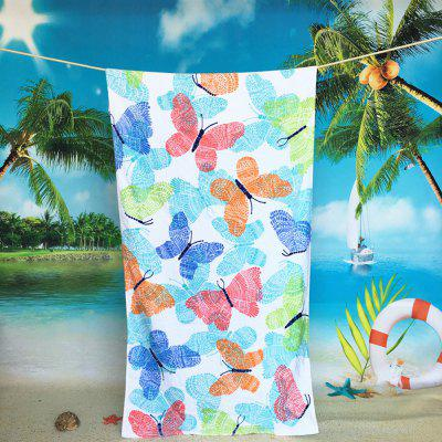 Pure Cotton Towel Butterfly Beach Towels