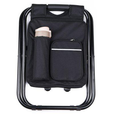 Portable Folding Backpack Cooler Bag Stool Beach Chair For Camping Fishing Hiking PicnicsFishing Tools and Accessories<br>Portable Folding Backpack Cooler Bag Stool Beach Chair For Camping Fishing Hiking Picnics<br><br>Color: Black,Blue,Camouflage<br>Material: Oxford, Stainless Steel<br>Package Contents: 1 x Folding Cooler Bag Stool<br>Package size (L x W x H): 50.00 x 37.00 x 5.00 cm / 19.69 x 14.57 x 1.97 inches<br>Package weight: 1.6590 kg