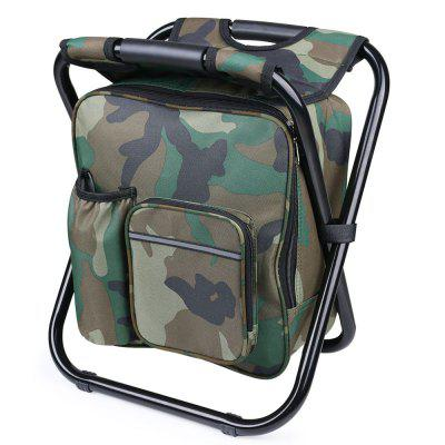 Portable Folding Backpack Cooler Bag Stool Beach Chair For