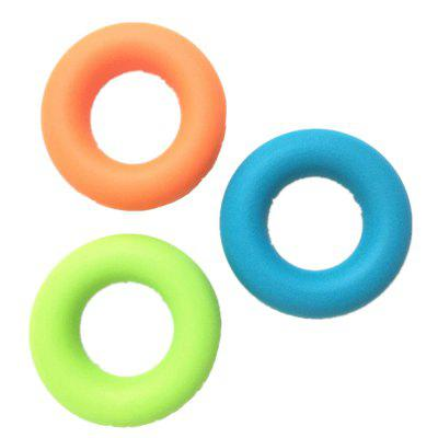 Silica Gel Finger Grip Strength Exercise Rings Set of 3 Level Resistance 30 40 50 Pounds Large Size